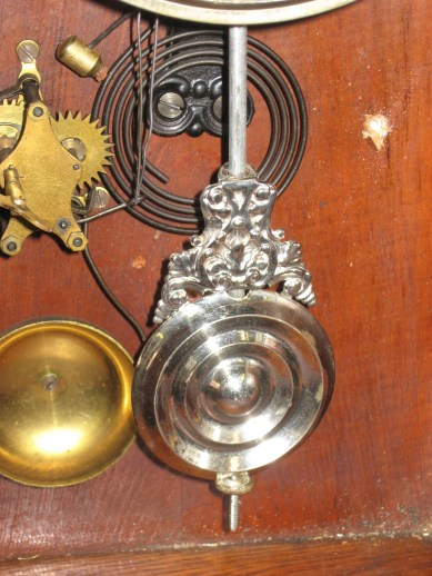 After cleaning pendulum (cleaned in Historic Timekeepers cleaning fluid).