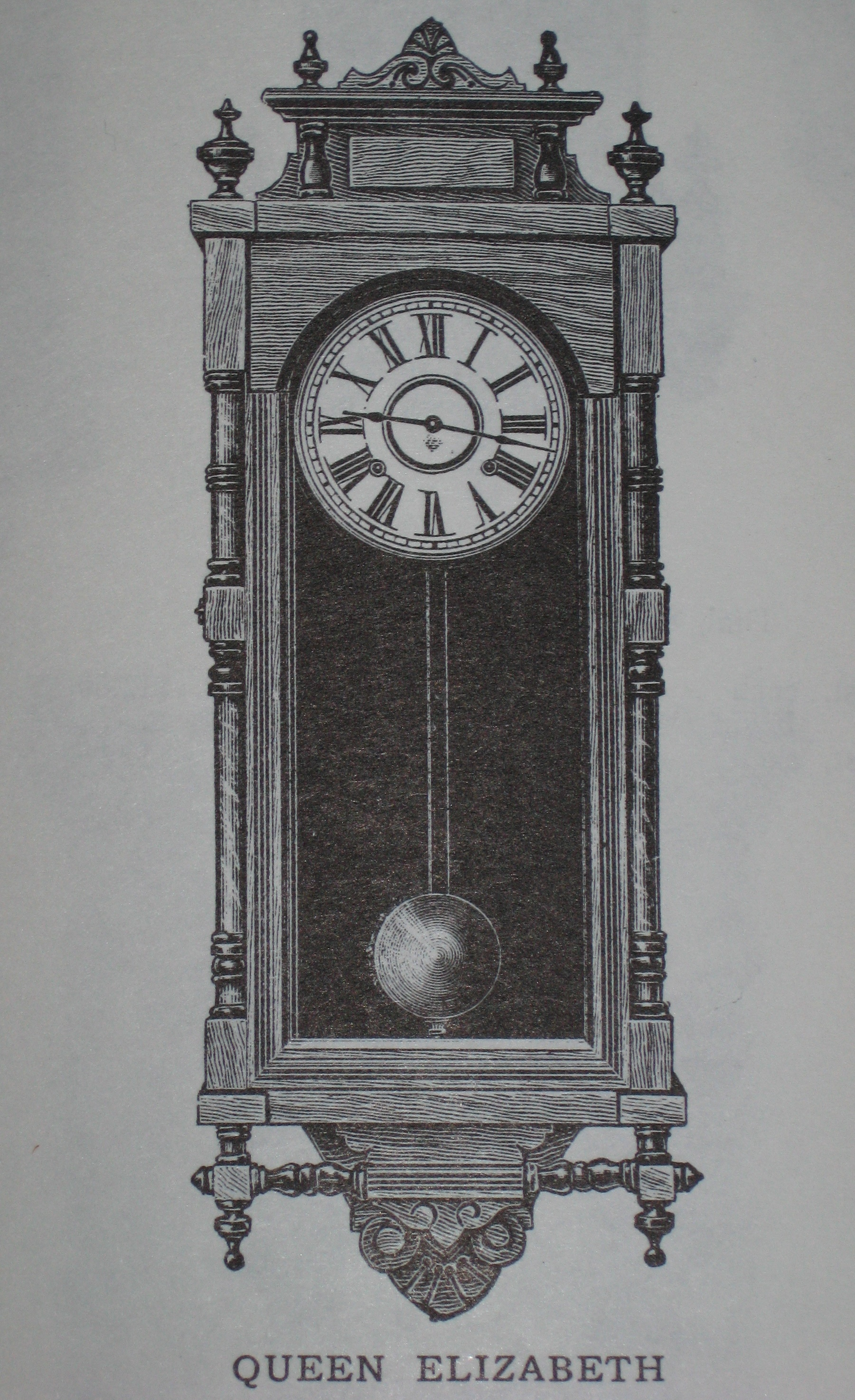 Ansonia Queen Elizabeth Wall Clock ClockInfocom