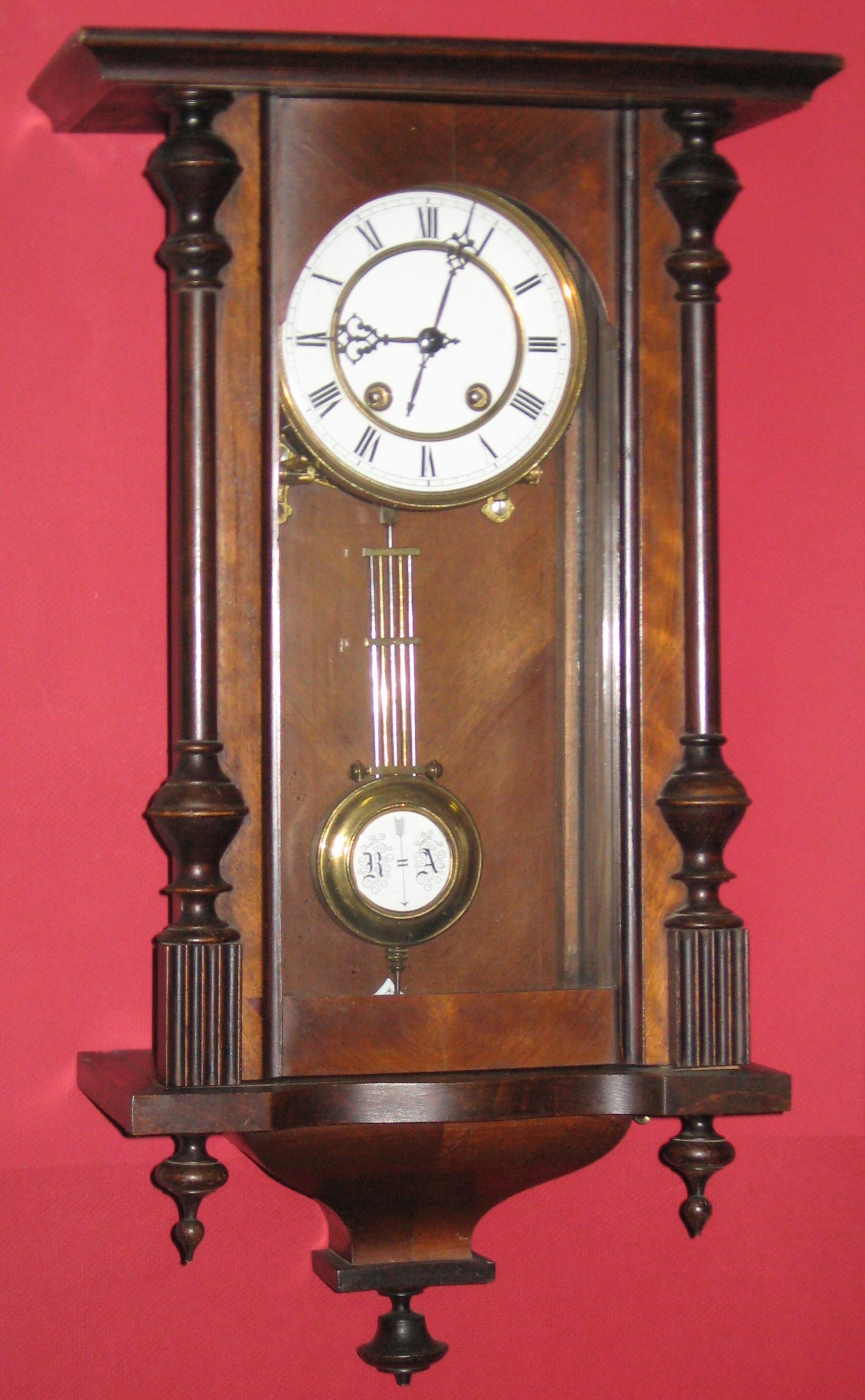 Time And Strike German Wall Clock With Halblang Movement