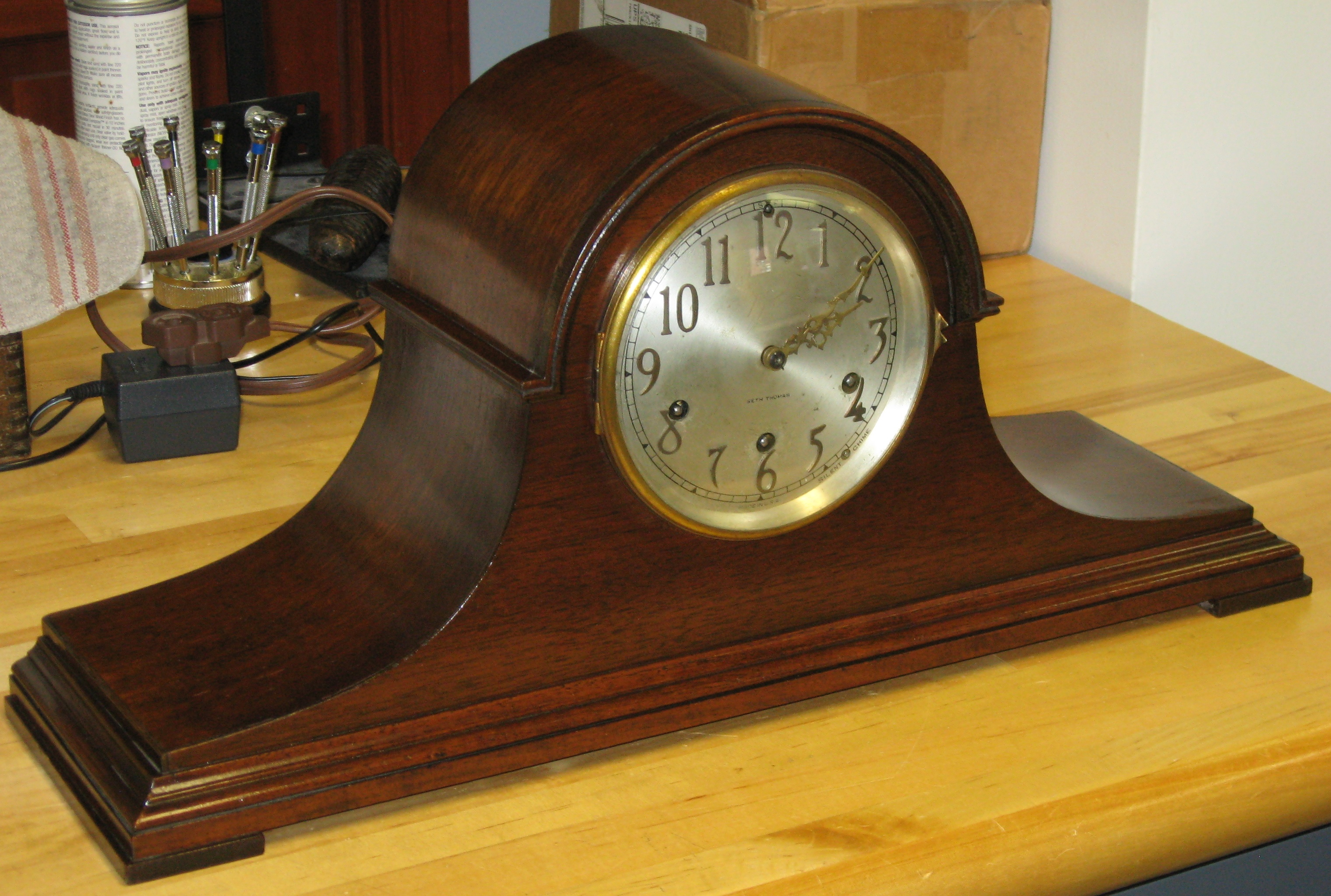 Seth Thomas Mantel Clock with No. 124 Westminister Chime