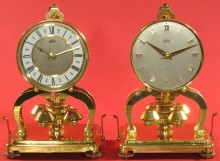The 1972 clock (left) and 1957 clock (right).