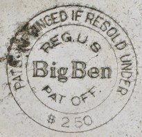 """Thick letters in """"Big Ben"""""""