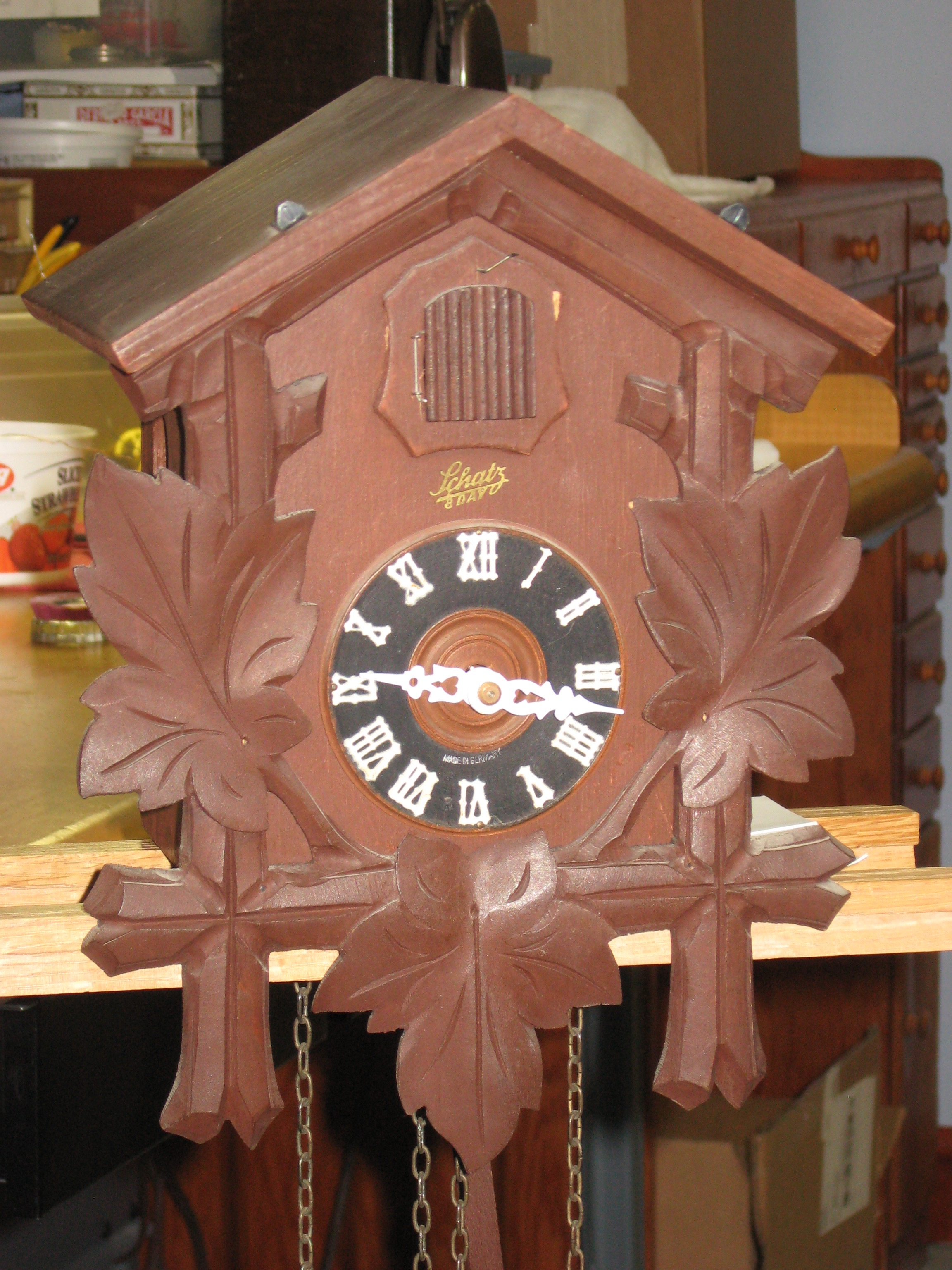Front of clock (without top carving)