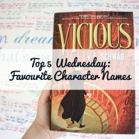 Top 5 Wednesday: Favourite Character Names