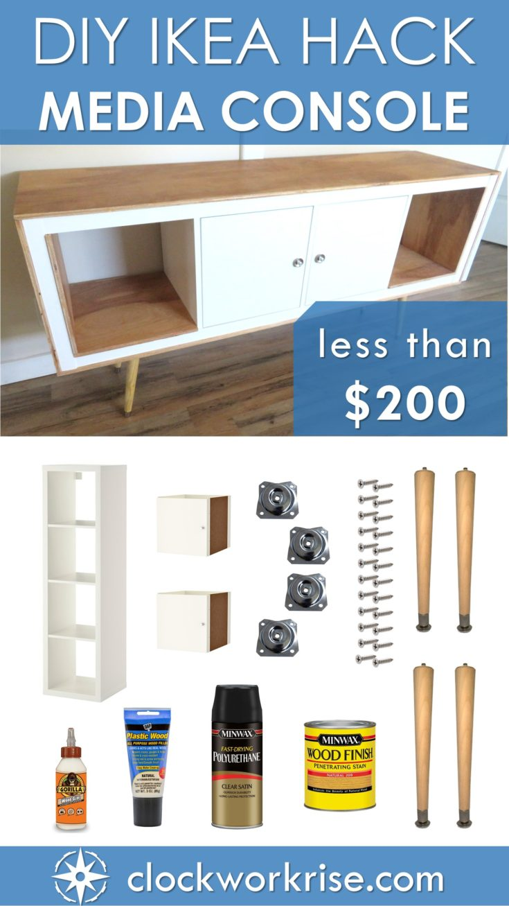 Exposed Edge Plywood Ikea Hack Media Console For Under 200