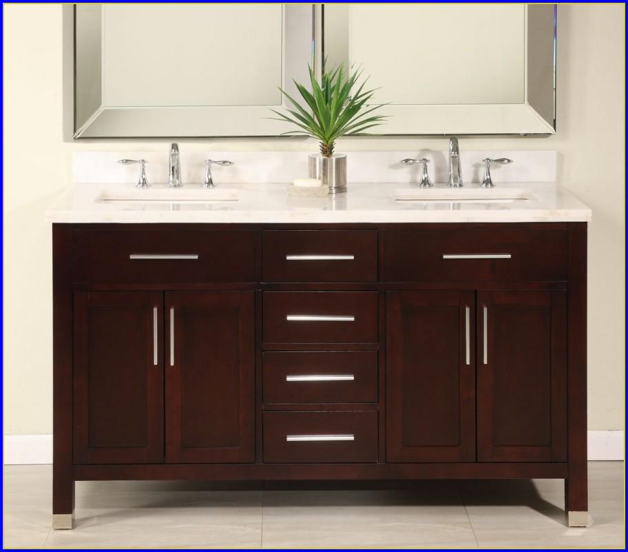 60 Inch Bathroom Vanity Double Sink White