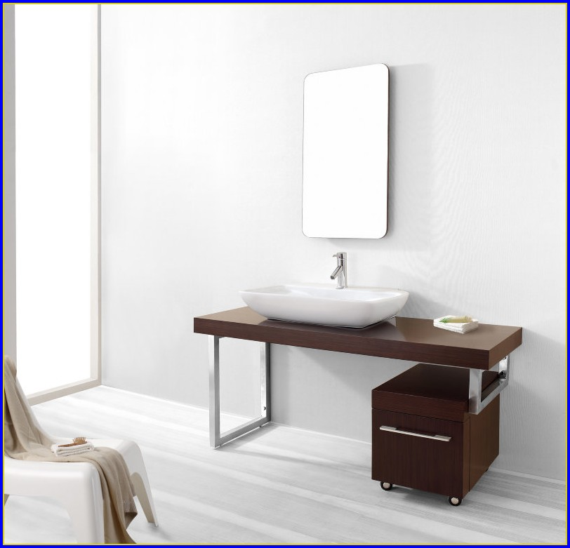 60 Inch Modern Bathroom Vanity Single Sink