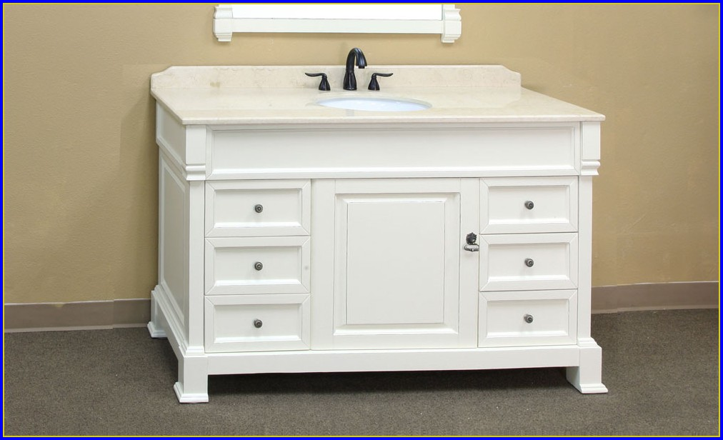 60 Inch Single Sink Bathroom Vanity Cabinets