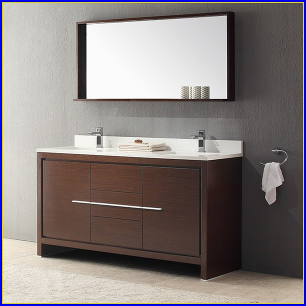 60 Inch White Double Sink Vanity