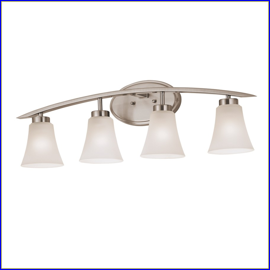 Bathroom 2 Light Fixtures Brushed Nickel
