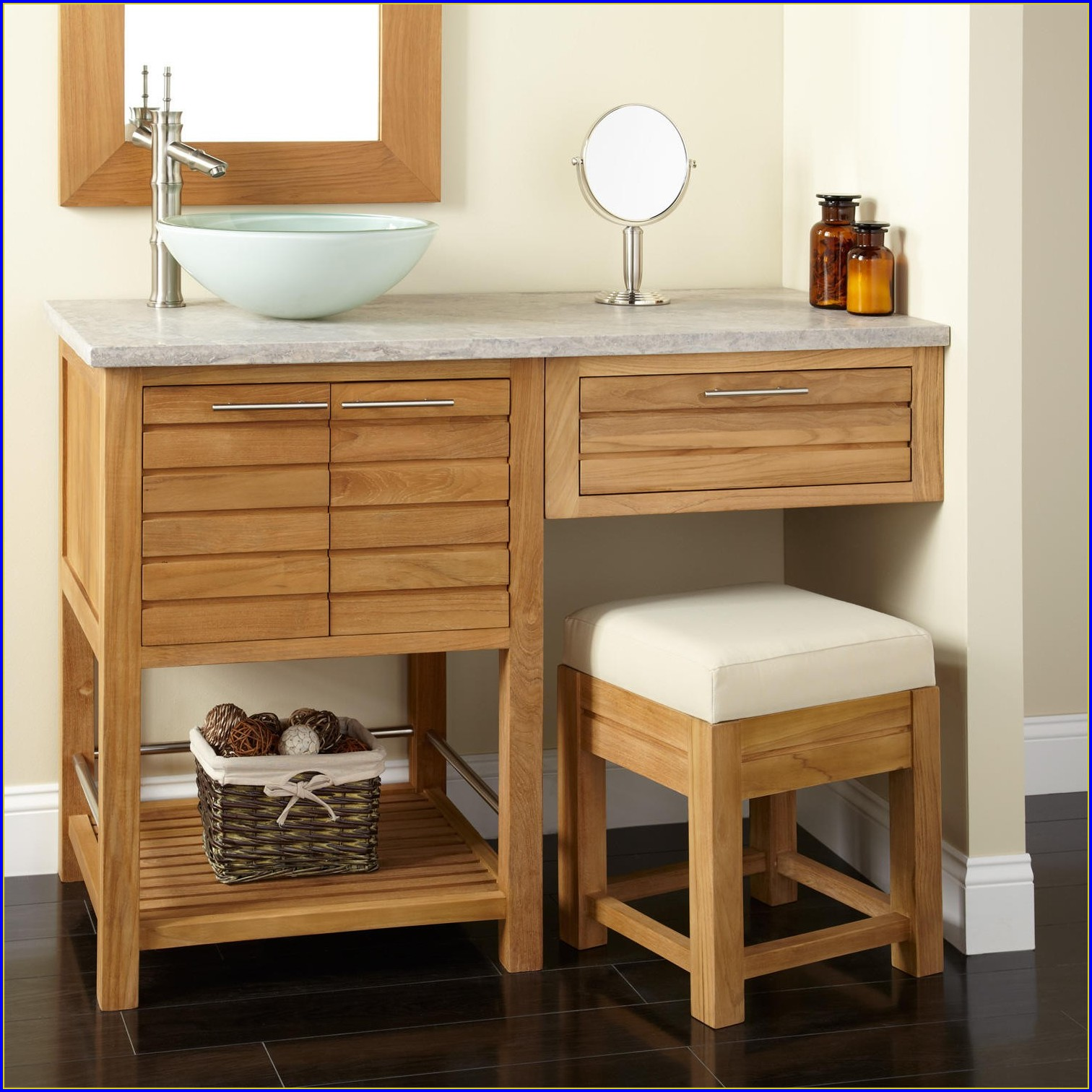 Bathroom Cabinets With Makeup Area