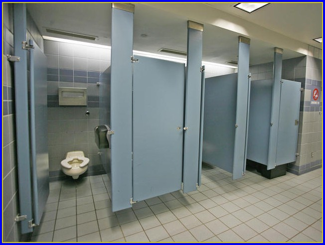 Bathroom Stall Doors From The Ground