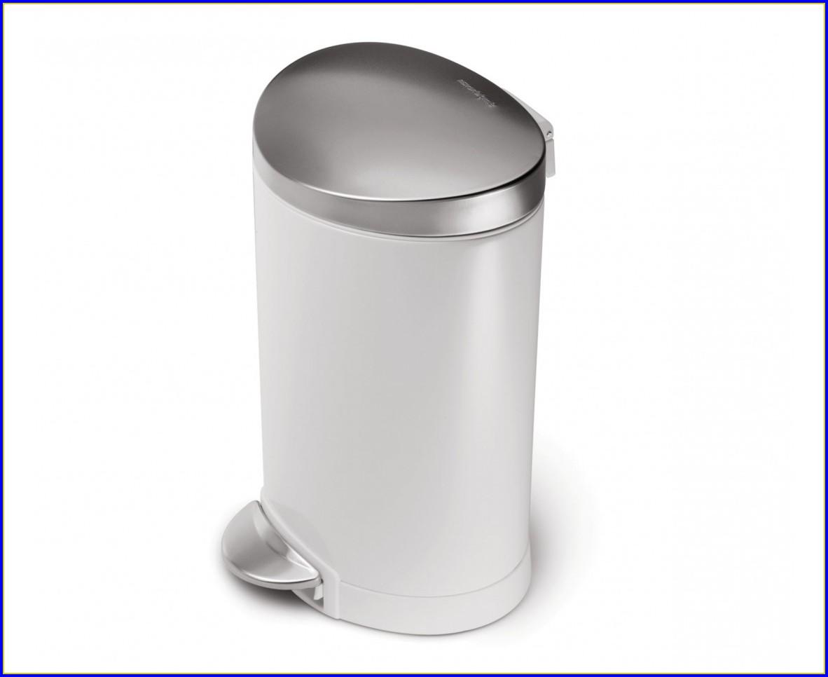 Bathroom Trash Can With Swing Lid