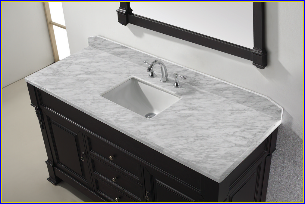 Bathroom Vanity Top With Sink On The Right