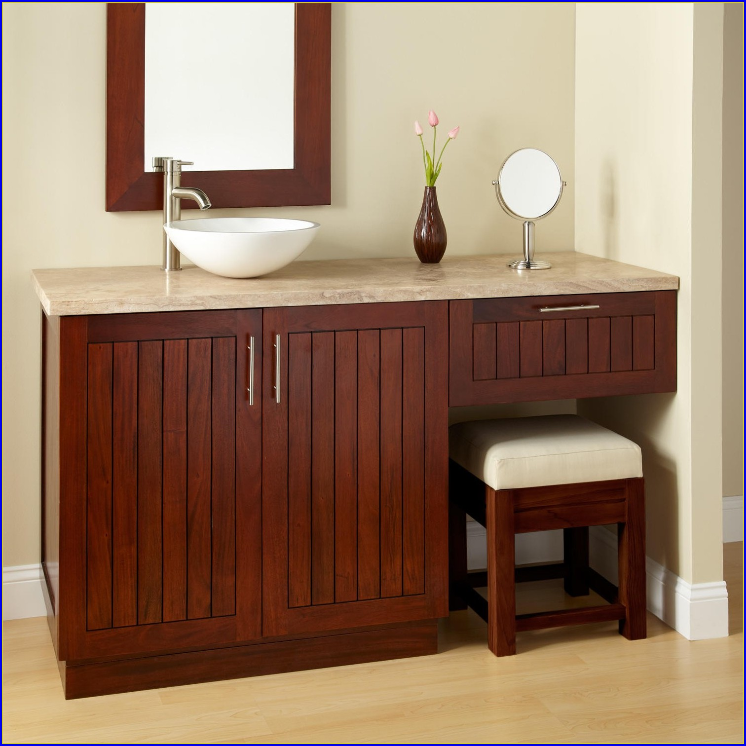Bathroom Vanity With Makeup Table