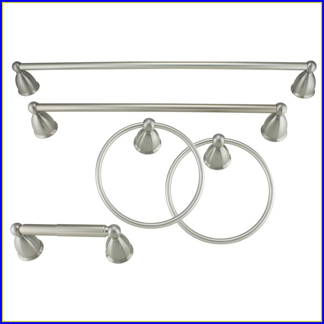 Brushed Nickel Bathroom Accessories Delta
