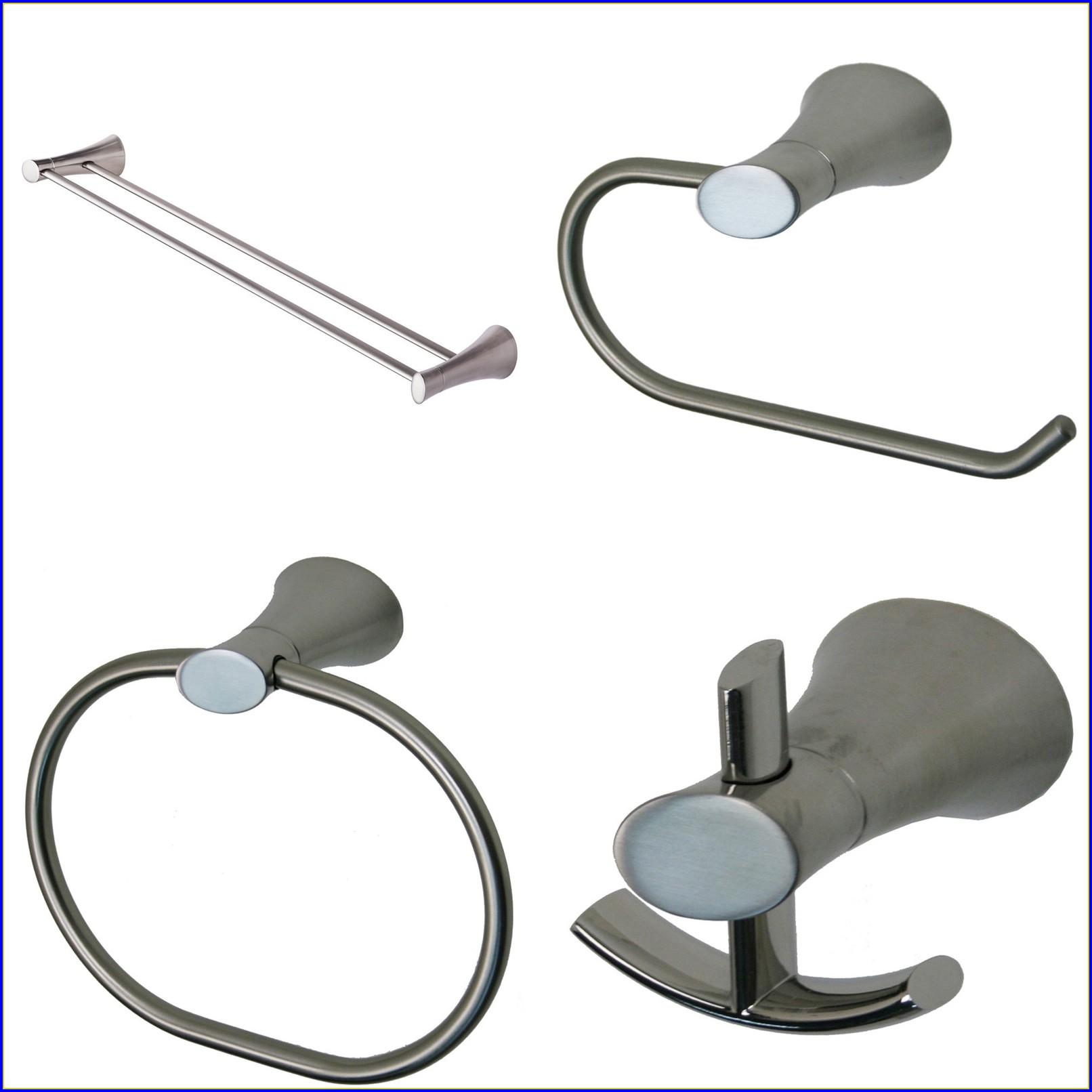 Brushed Nickel Bathroom Accessories Wastebasket