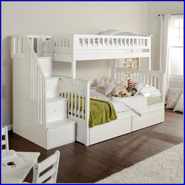 Bunk Beds With Stairs White