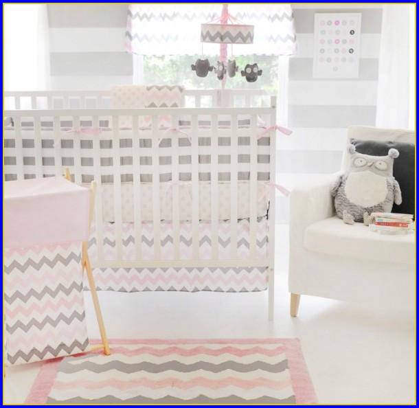 Chevron Baby Bedding Pink