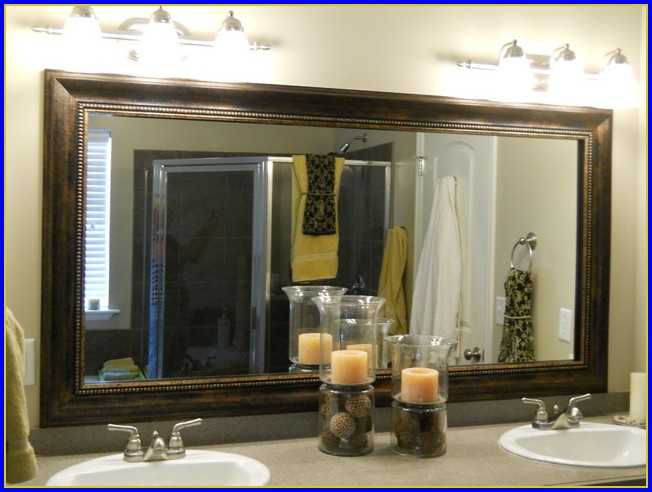Framed Mirrors For Bathroom Diy