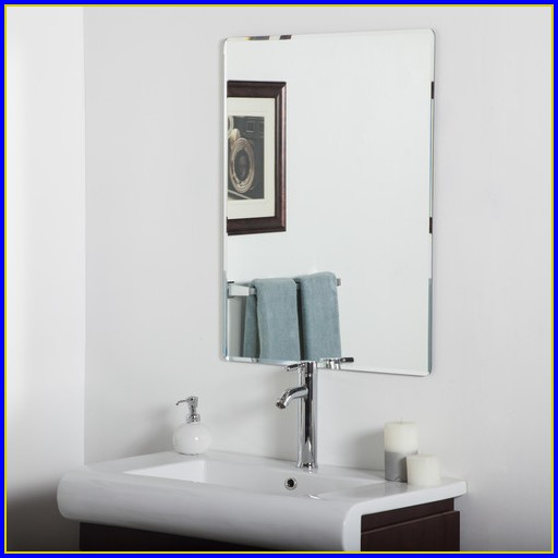 Frameless Bathroom Mirror Clips