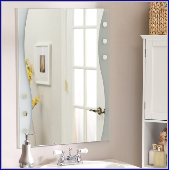 Frameless Bathroom Mirror Installation