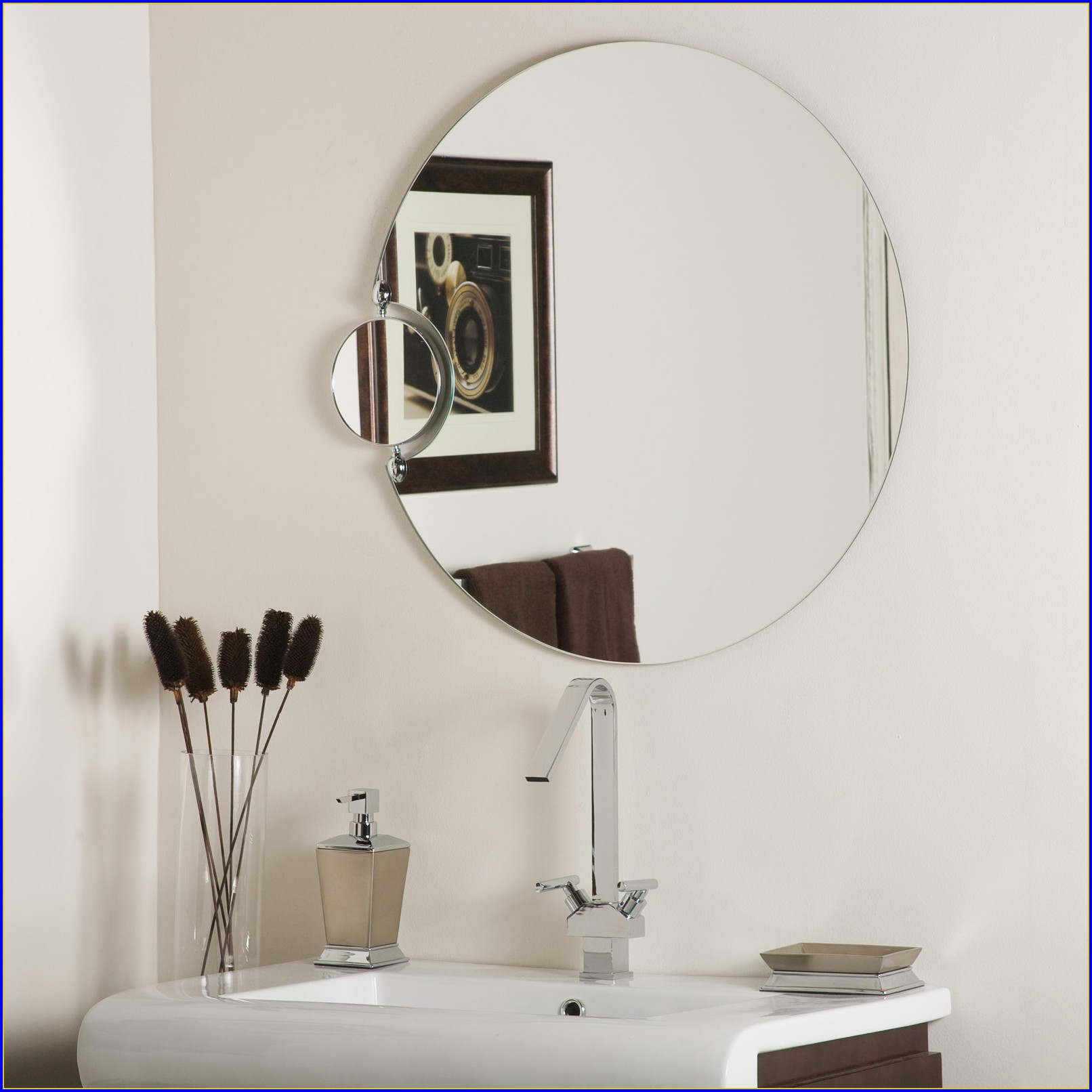 Frameless Bathroom Mirrors Houzz
