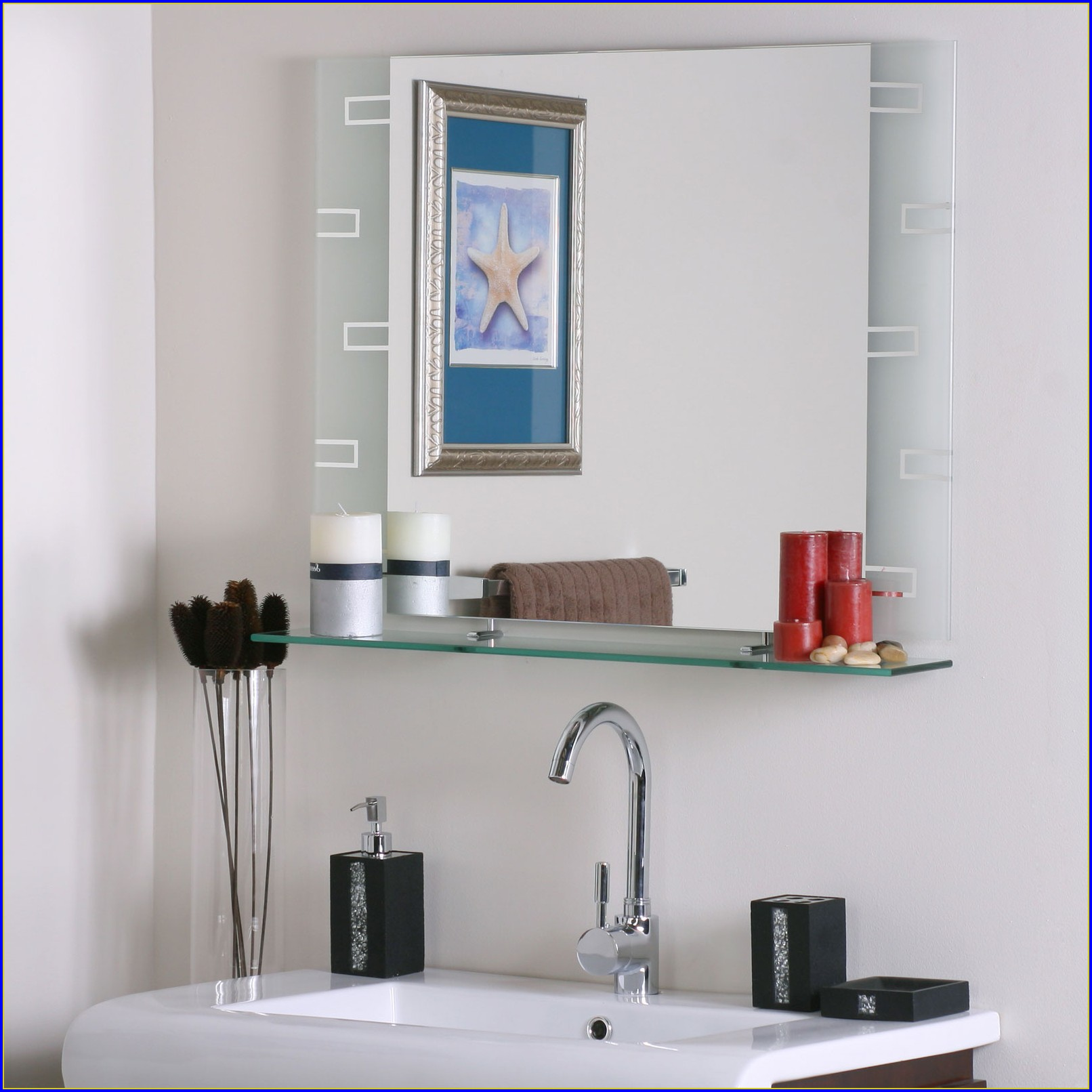 Frameless Bathroom Mirrors Large