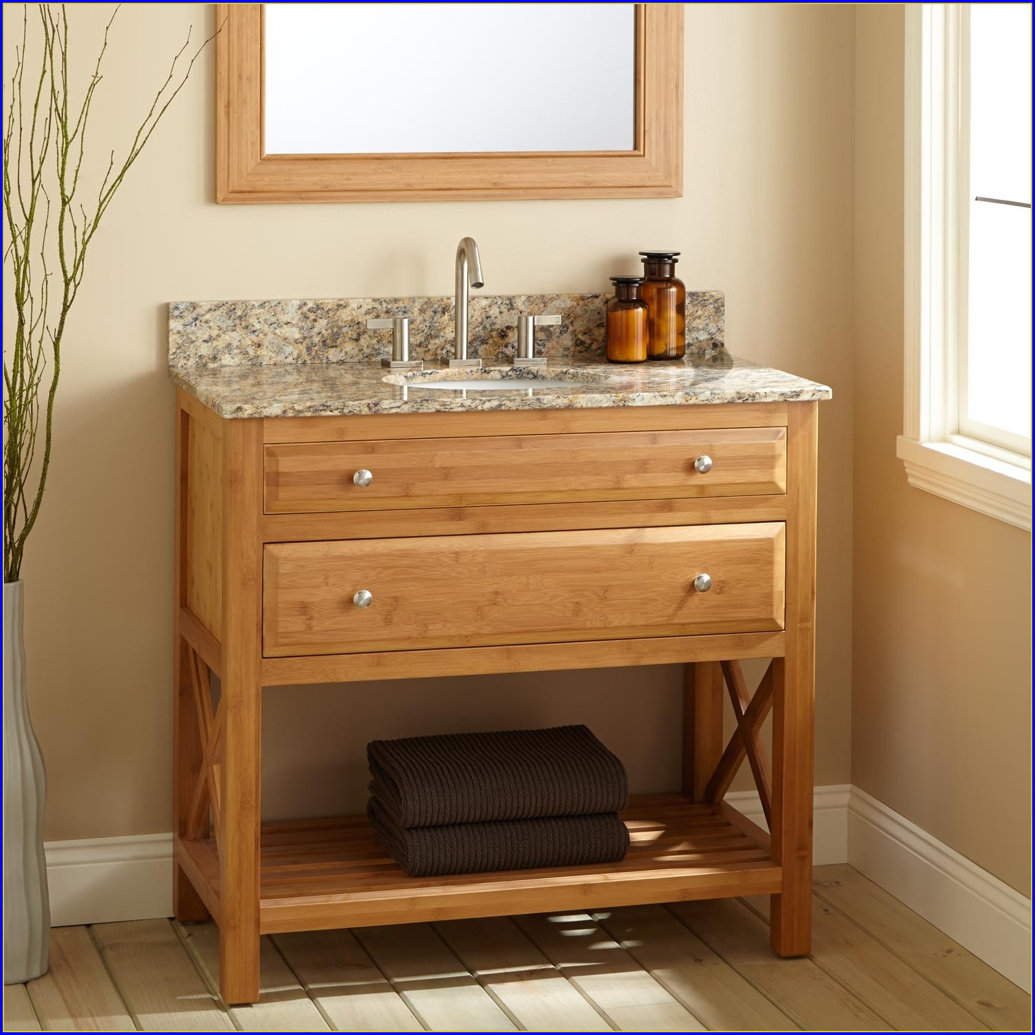 Narrow Depth Double Bathroom Vanity