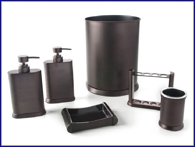 Oil Rubbed Bronze Bathroom Accessory 4 Piece Combination Pack