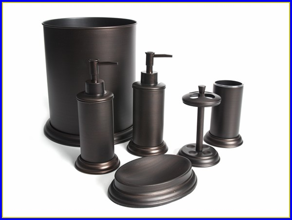 Oil Rubbed Bronze Bathroom Accessory Kit