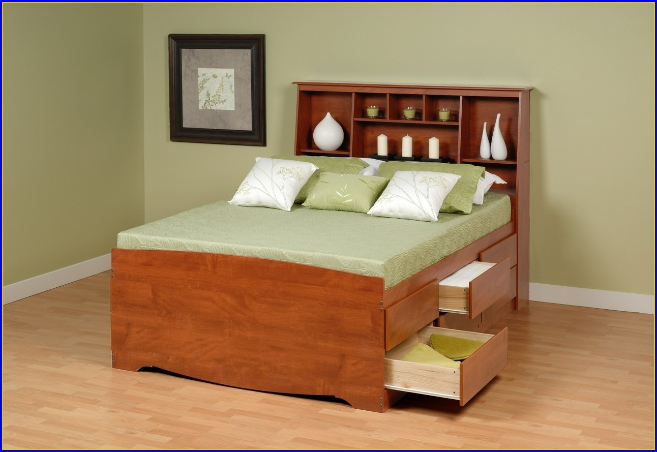 Platform Bed With Drawers Full Size