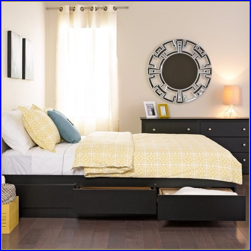 Platform Bed With Drawers Twin