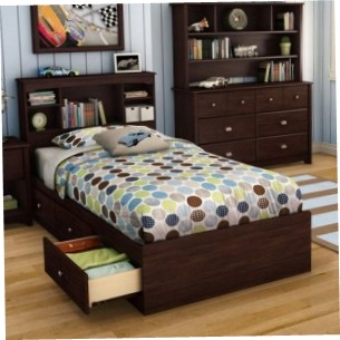 Platform Bed With Storage On One Side