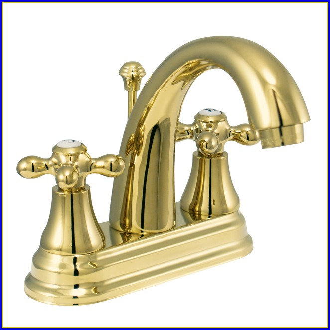 Polished Brass Bathroom Faucet Kohler