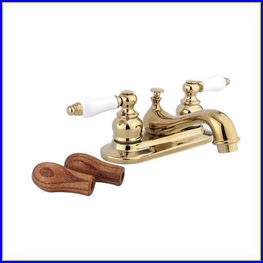 Polished Brass Bathroom Faucets Single Hole
