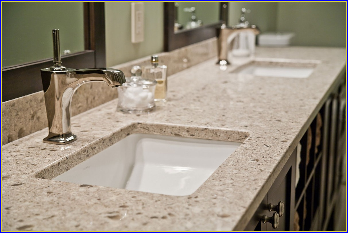 Quartz Bathroom Countertops Images