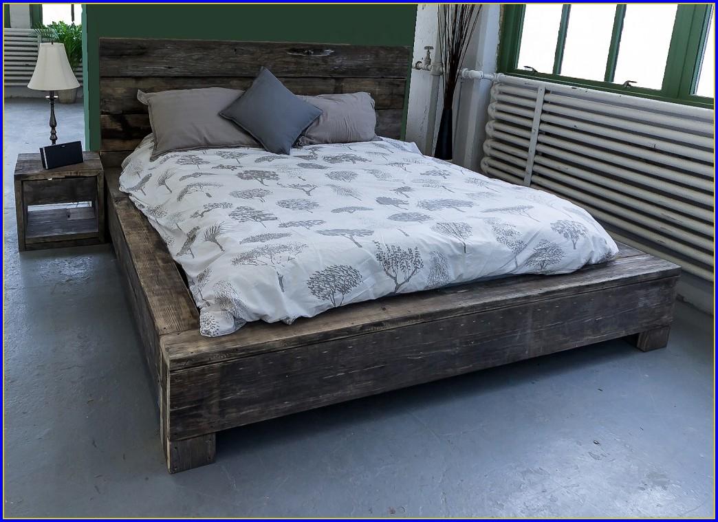 Reclaimed Wood Bedroom Wall