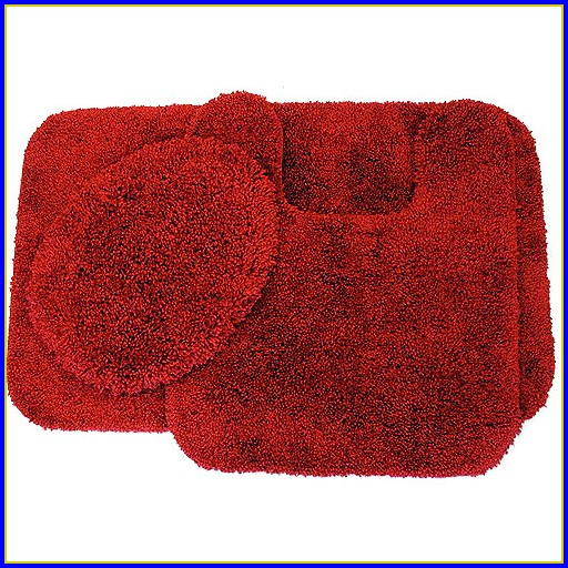 Red Bathroom Rugs Walmart