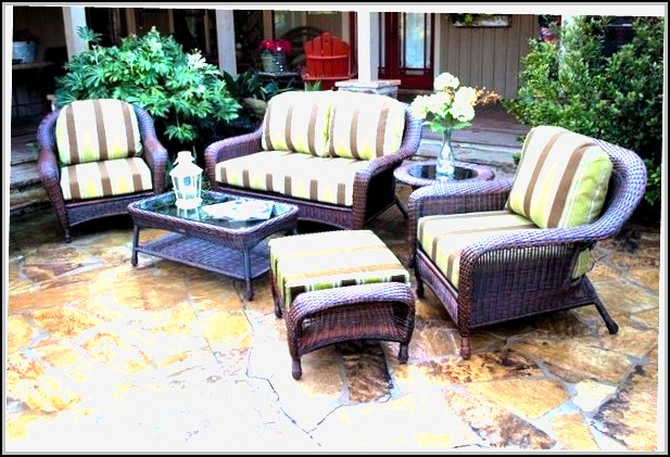 Resin Wicker Patio Furniture Sunbrella