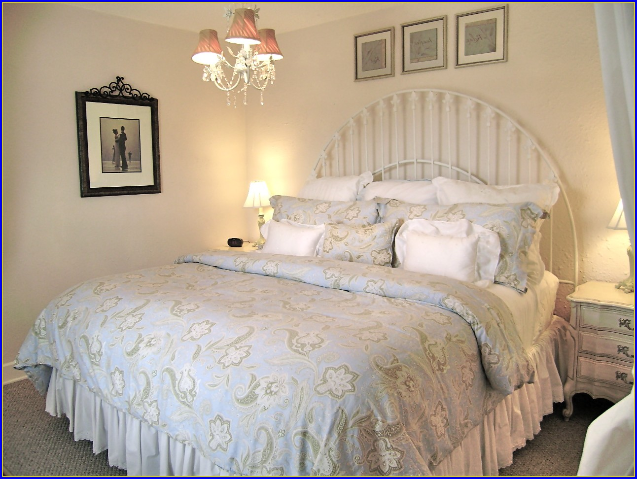 Shabby Chic Bedding Blue