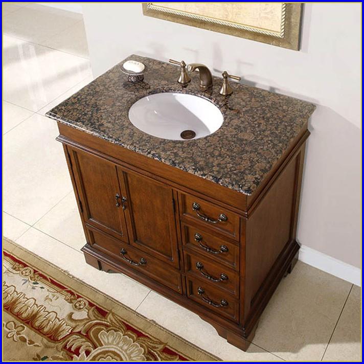 Single Sink Bathroom Vanity With Granite Top