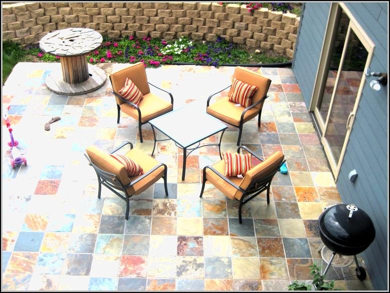Slate Backyard Patio Ideas