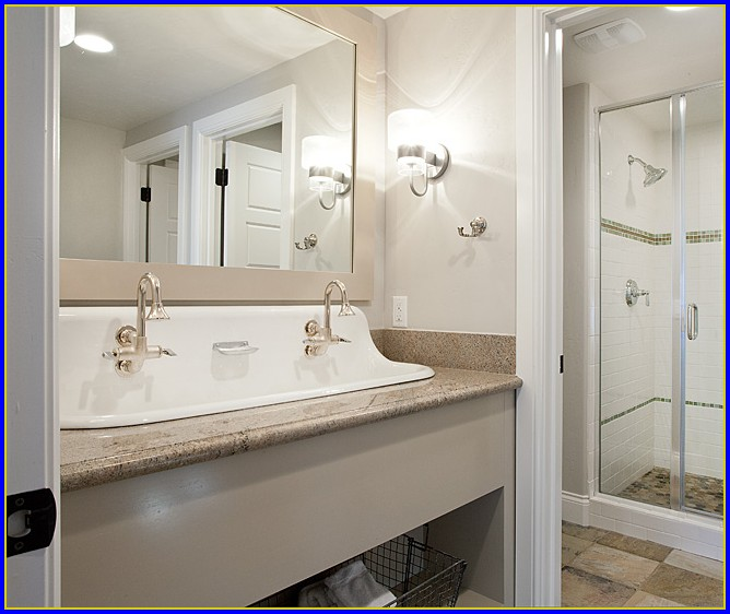 Trough Sink Bathroom Undermount