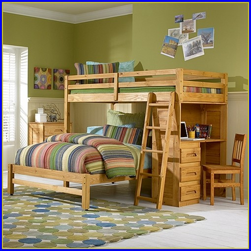 Twin Full Bunk Bed With Drawers