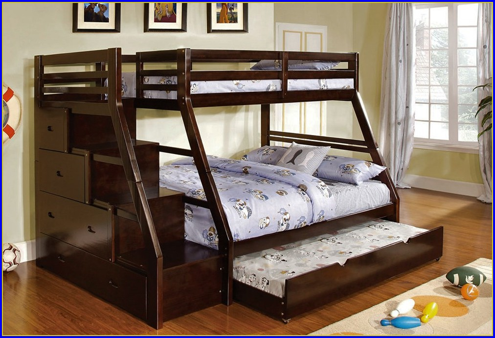 Twin Over Full Bunk Bed With Stairs Plans