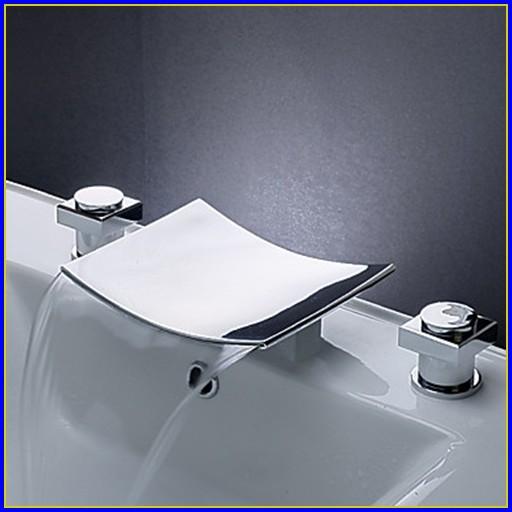 Waterfall Bathroom Faucet Brushed Nickel