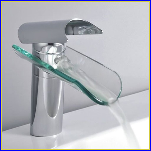 Waterfall Bathroom Faucets Chrome