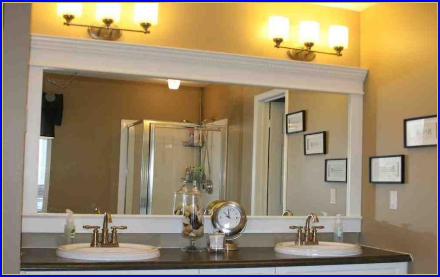 White Framed Mirrors For Bathrooms
