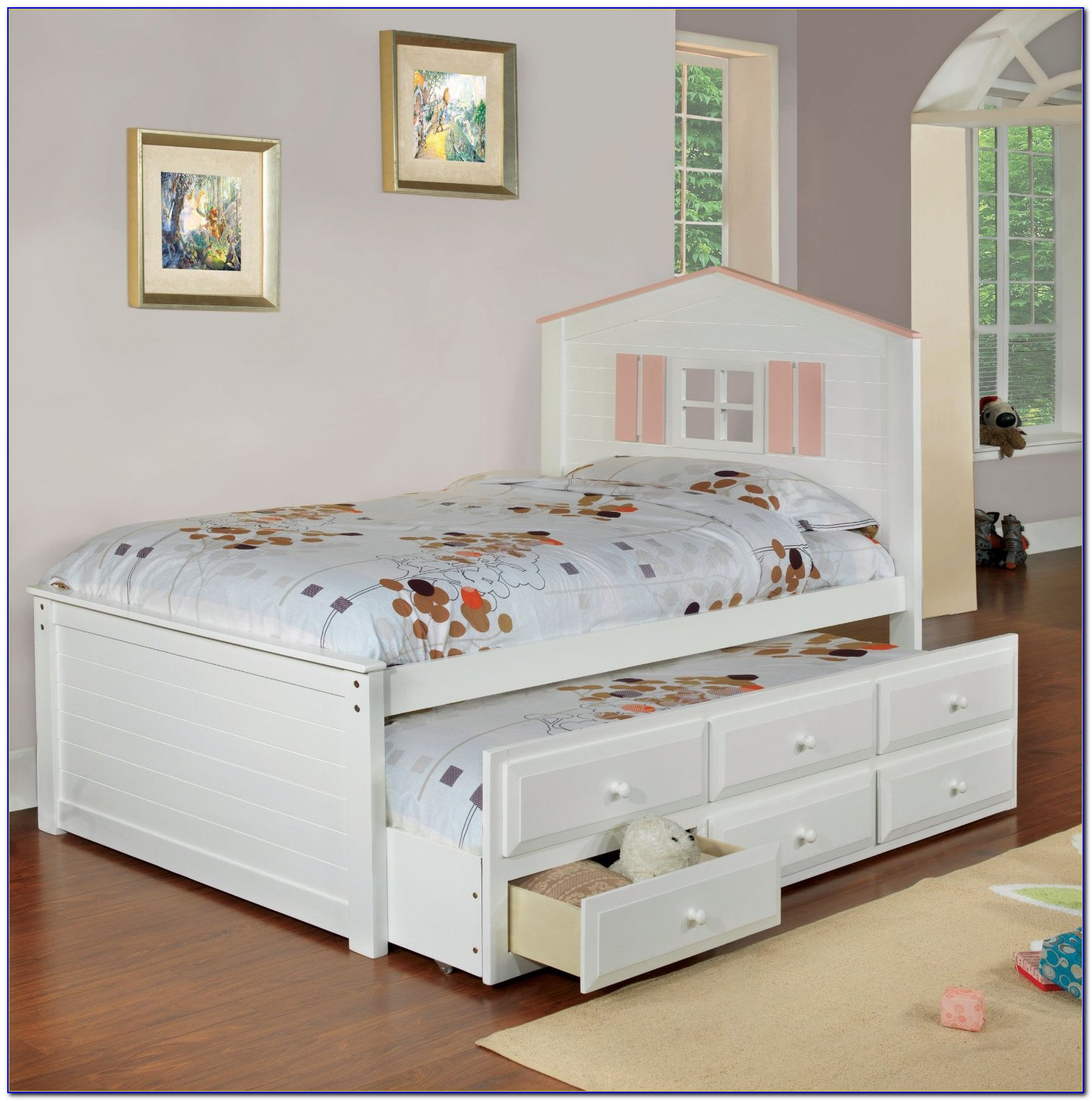 Bed With Drawers Underneath King